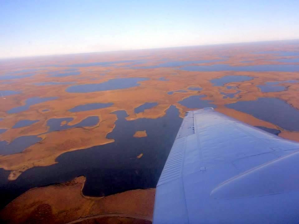 Flying over Tuktoyaktuk