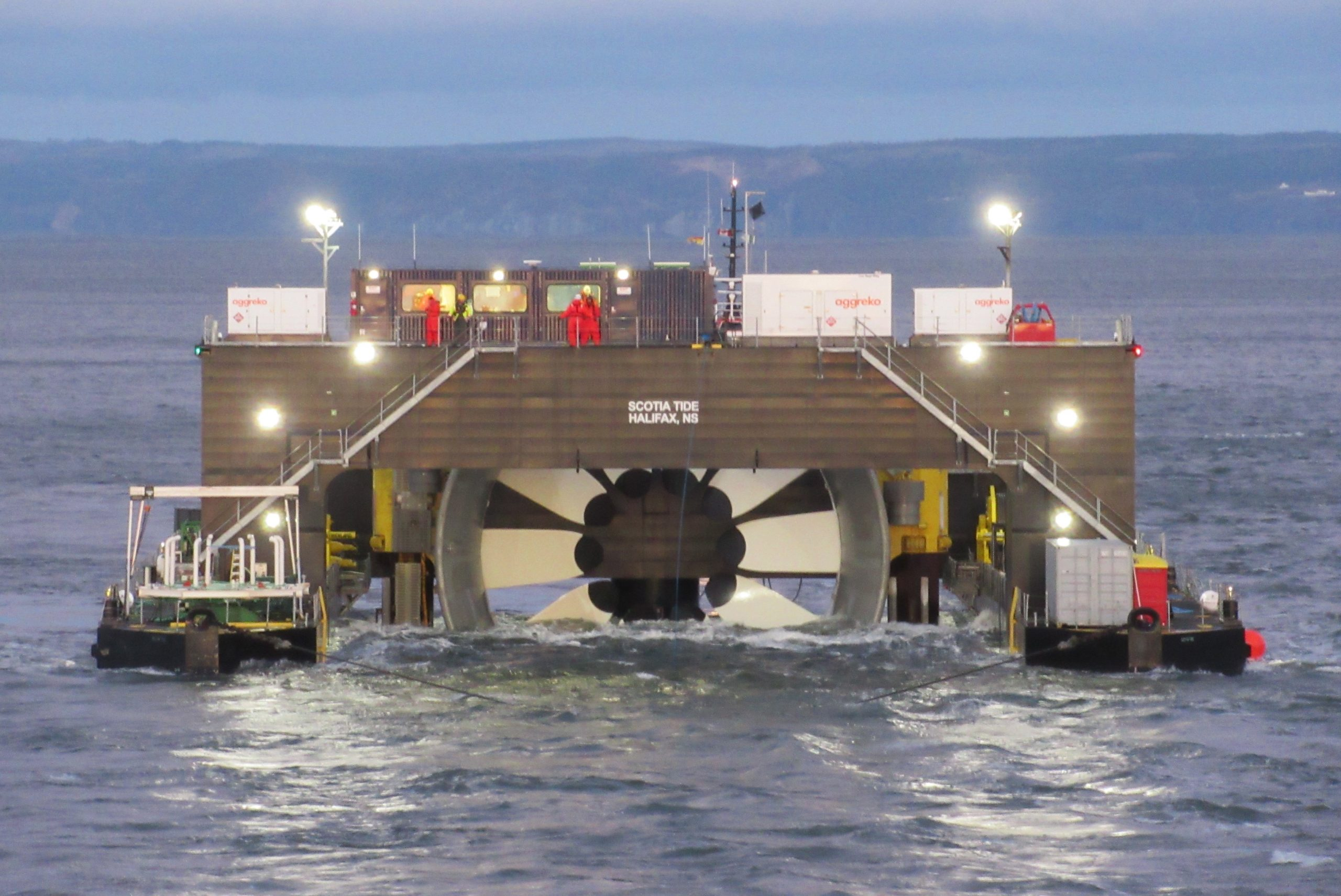 Tidal Turbine Deployment and Cable Connection 2